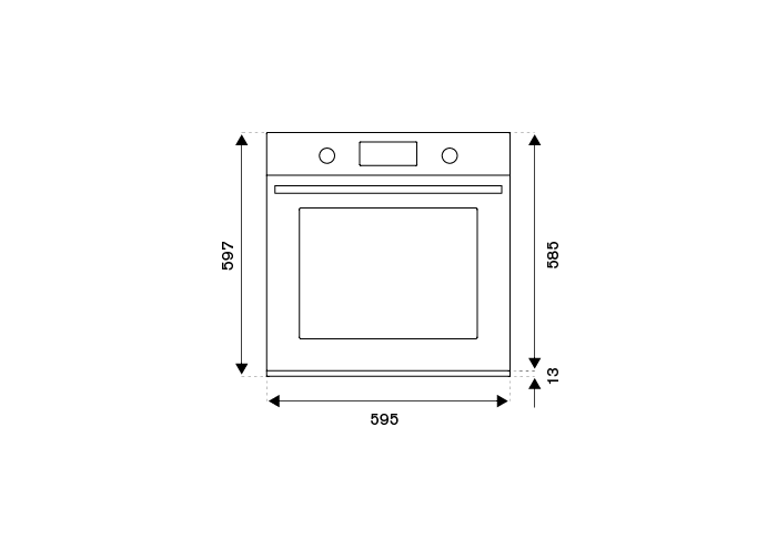 60cm Electric Built-in oven LCD display | Bertazzoni