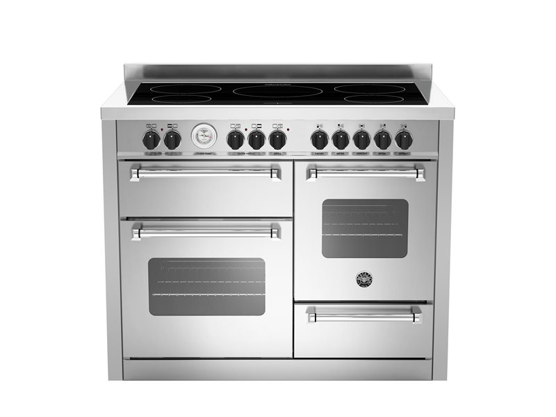 110 cm induction top electric triple oven | Bertazzoni - Stainless Steel