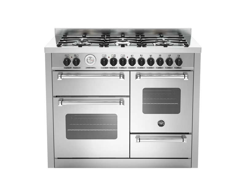 110 cm 6-burner electric triple oven | Bertazzoni - Stainless