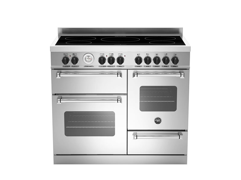 100 cm induction top electric triple oven | Bertazzoni - Stainless Steel