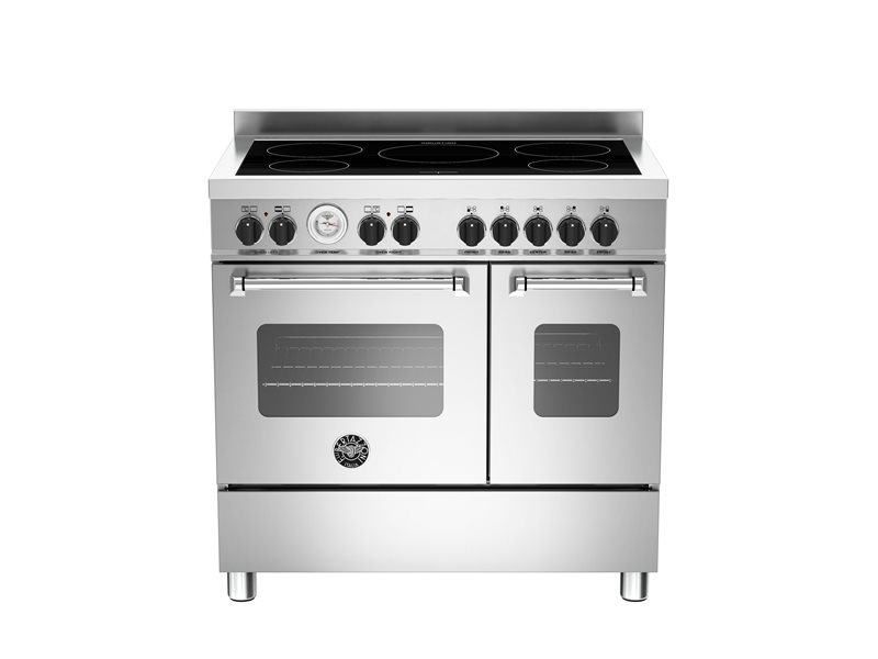 90 cm induction top electric double oven | Bertazzoni - Stainless