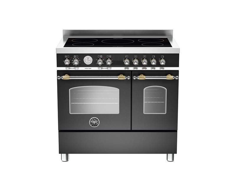90 cm induction top electric double oven | Bertazzoni - Nero Matt