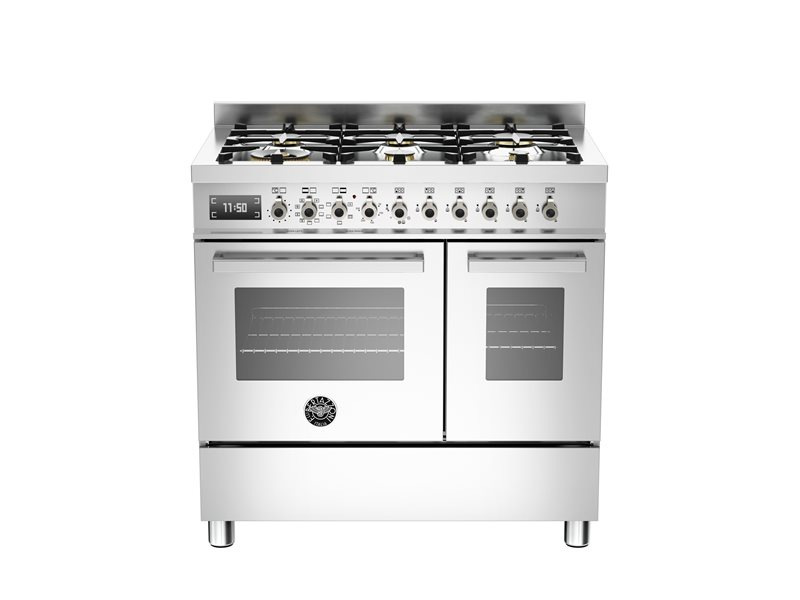90 cm 6-burner electric double oven | Bertazzoni - Stainless