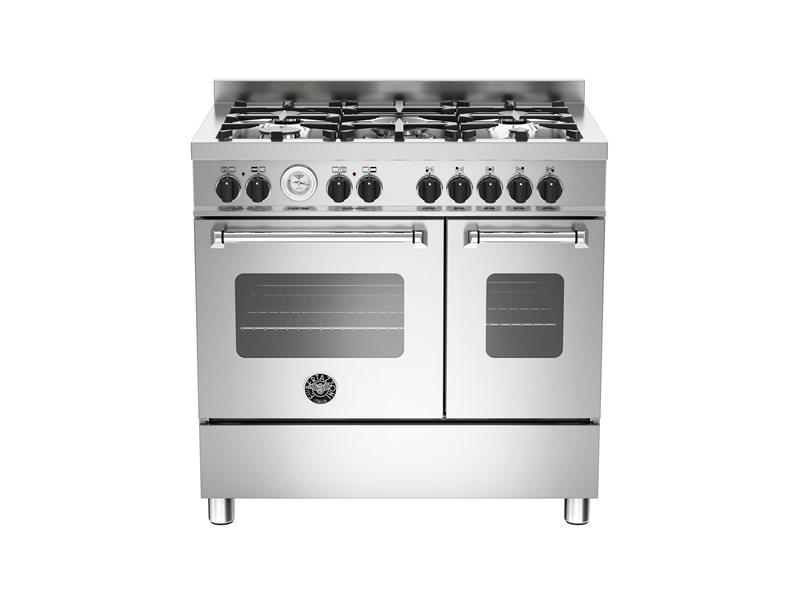 90 cm 5-burner electric double oven | Bertazzoni - Stainless Steel