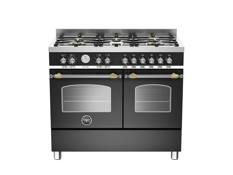 100 cm 6-burner electric double oven | Bertazzoni - Nero Matt