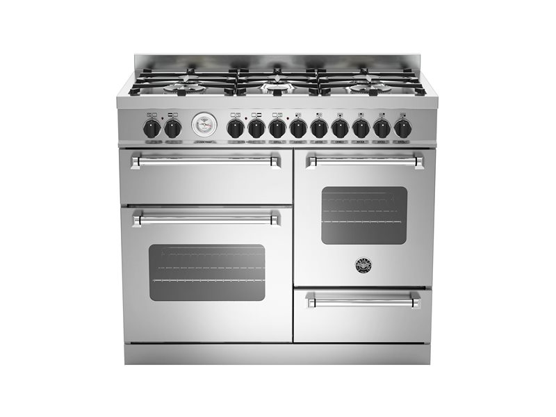 100 cm 6-burner eletric triple oven | Bertazzoni - Stainless Steel