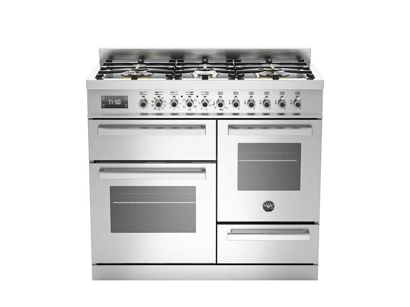100 cm 6-burner electric triple oven | Bertazzoni - Stainless Steel