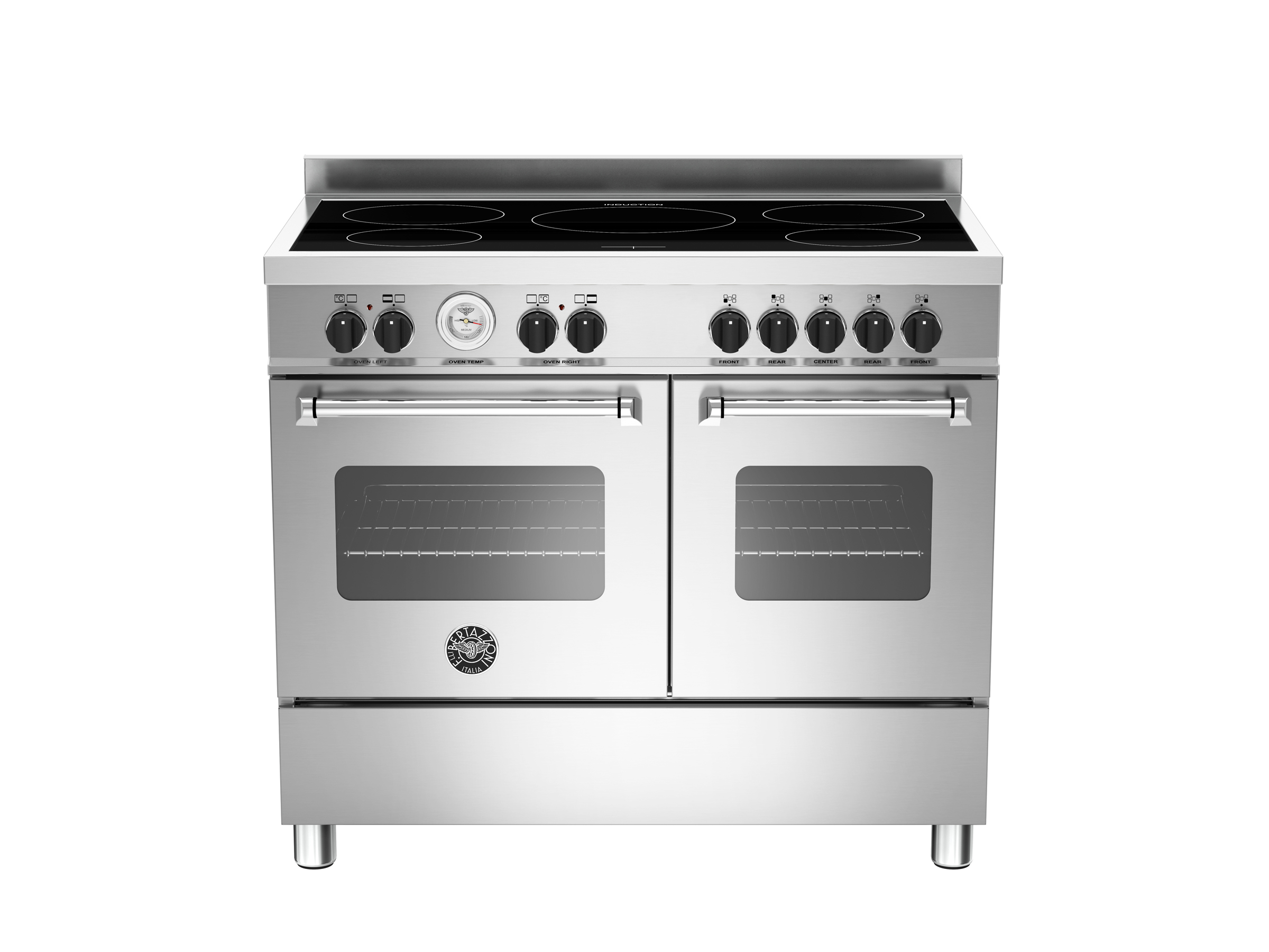 100 cm induction top electric double oven | Bertazzoni - Stainless