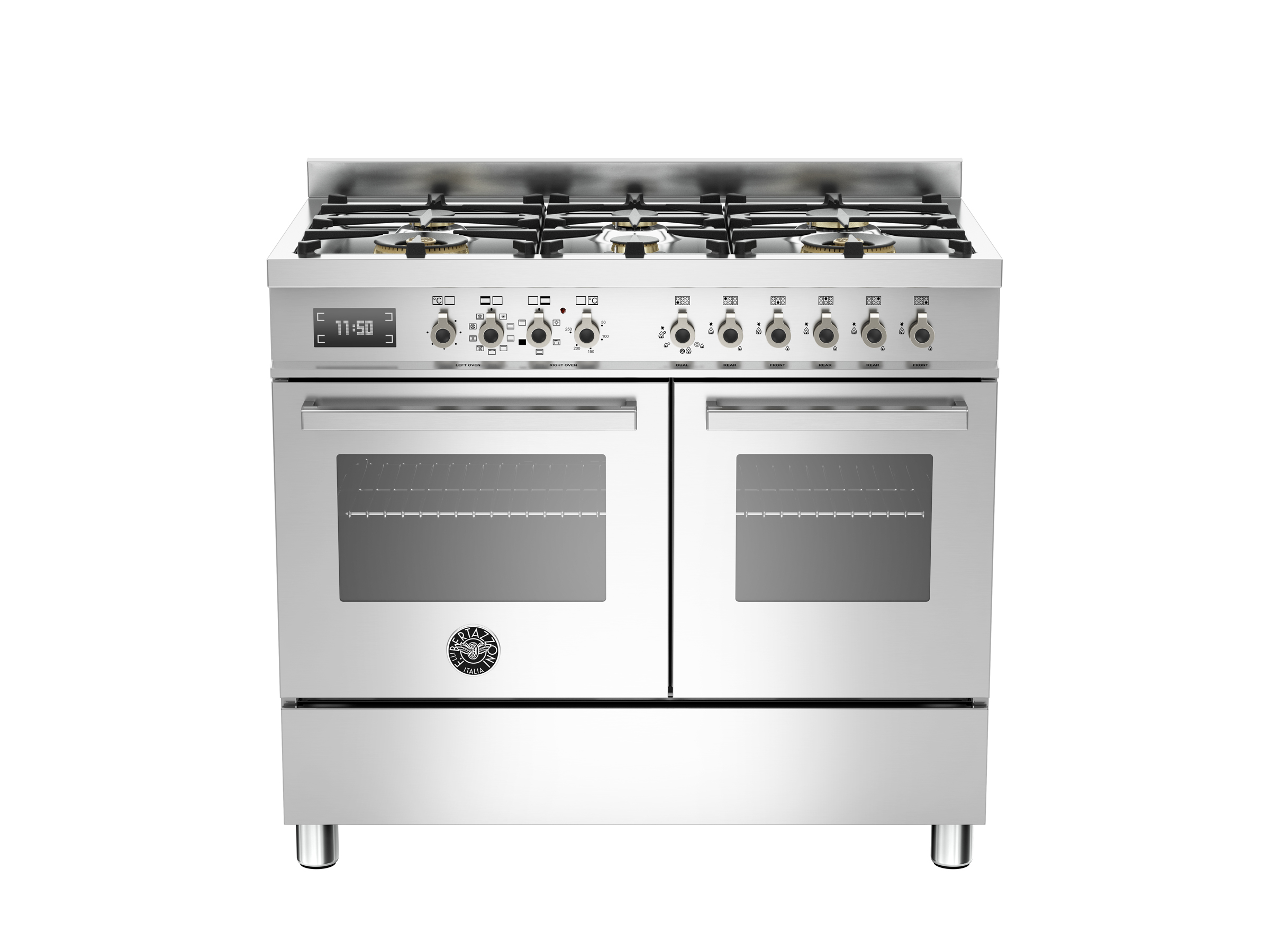 100 cm 6-burner electric double oven | Bertazzoni - Stainless