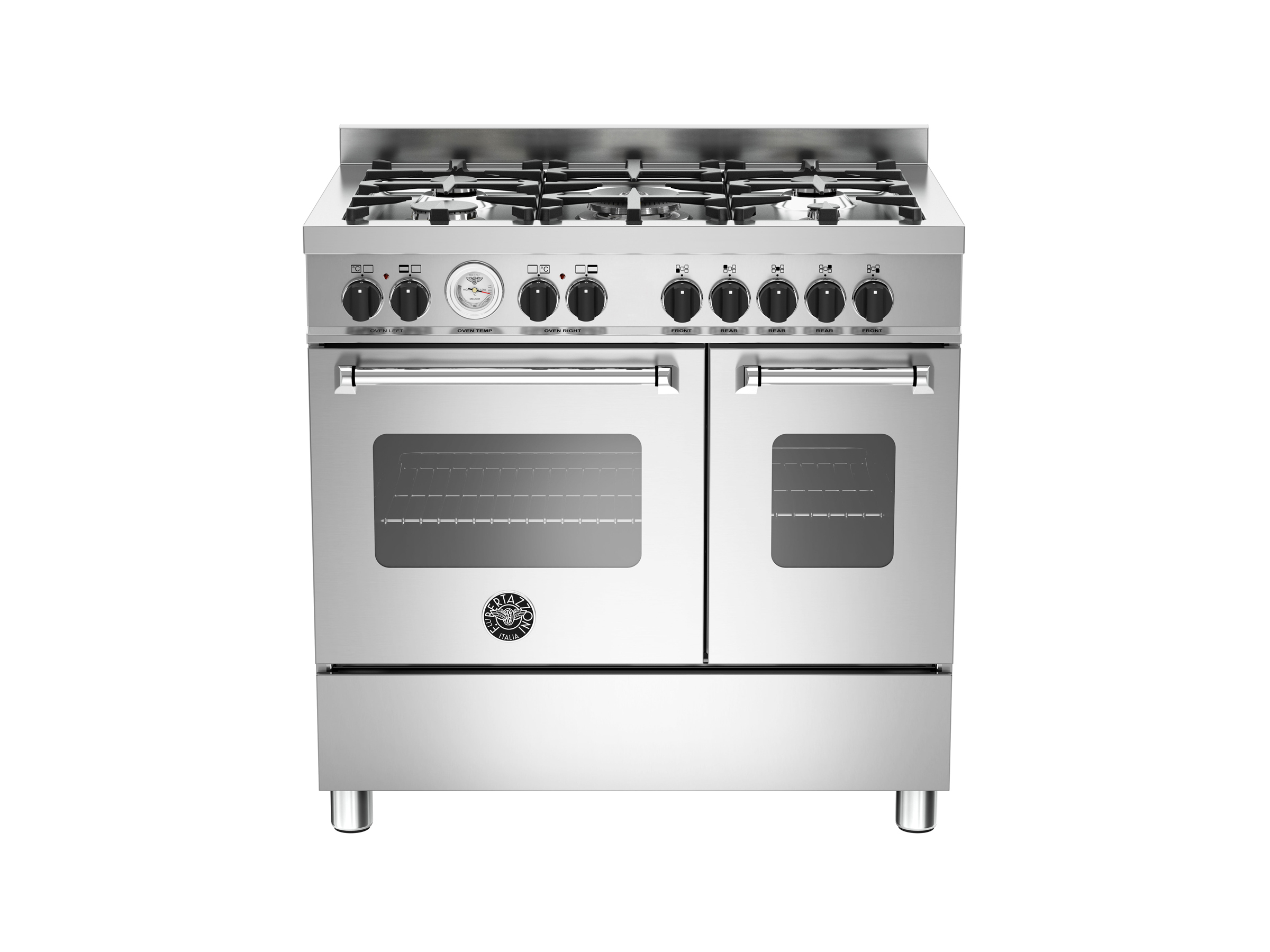 90 cm 5-burner electric double oven | Bertazzoni - Stainless